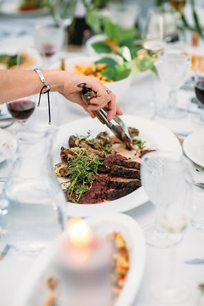 Three Forks event catering- Sample Banquet Wedding african spiced beef wth cherry mostarda