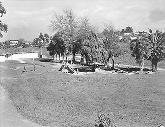 Childrens playground at Hamilton Lake in 1959