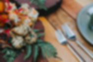 3 forks Events cateing_ Bohemiun Style menu - Canaps _ rustic - Log