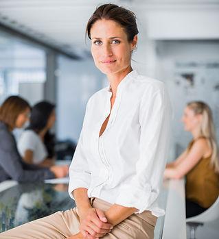 Mulher profissional sentado