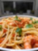 Spaghett with King Prawns