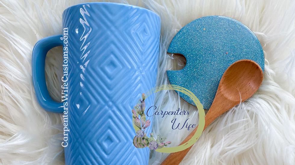 12oz Coffee Mug w/ Cover & Spoon