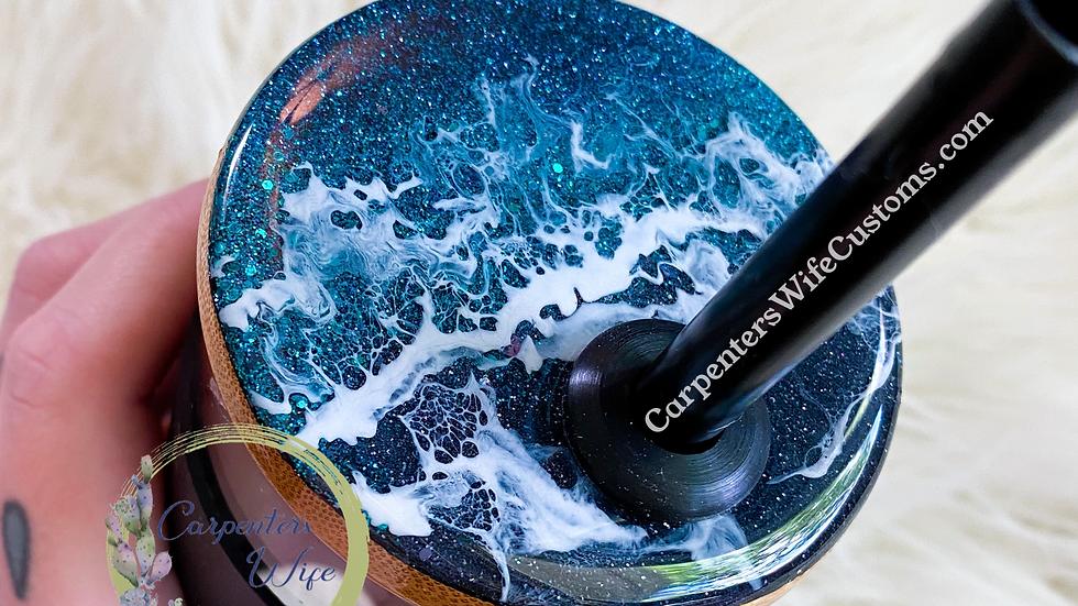 20oz Glass Tumbler -Ocean