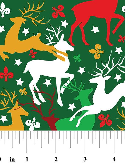 Reindeer Cotton Fabric
