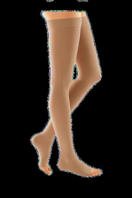 Компрессионные чулки эконом DUOMED с открытым носком 2 класс компрессии