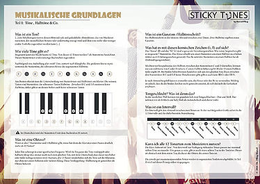 Download Factsheet: Musikalische Grundlagen Teil I: Töne, Halbtöne & Co.