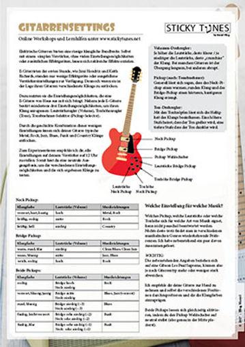 Gitarrensettings (Knöpfe, Schalter, Tonabnehmer)