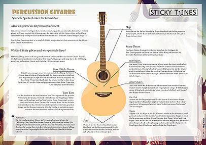 Spezielle Spieltechniken: Percussion Gitarre