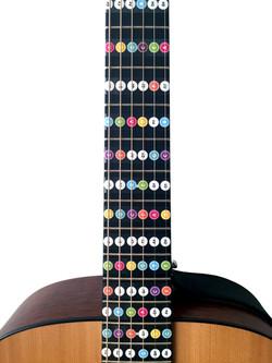 Noten Sticker Set für Gitarren