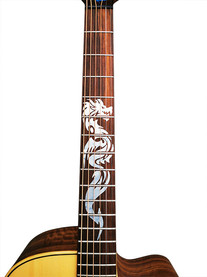 """Wiederablösbare Gitarrenaufkleber """"Mighty Dragon"""" für das Griffbrett der Gitarre"""