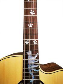 """Gitarrensticker """"Silky Paws"""" zum Verzieren des Griffbretts der Gitarre / E-Gitarre"""