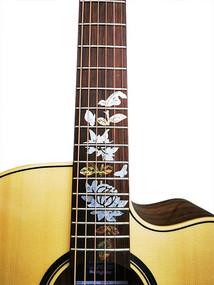 "Gitarren-Aufkleber ""Passion Flower"" zum Verzieren des Griffbretts von Gitarren / E-Gitarren"