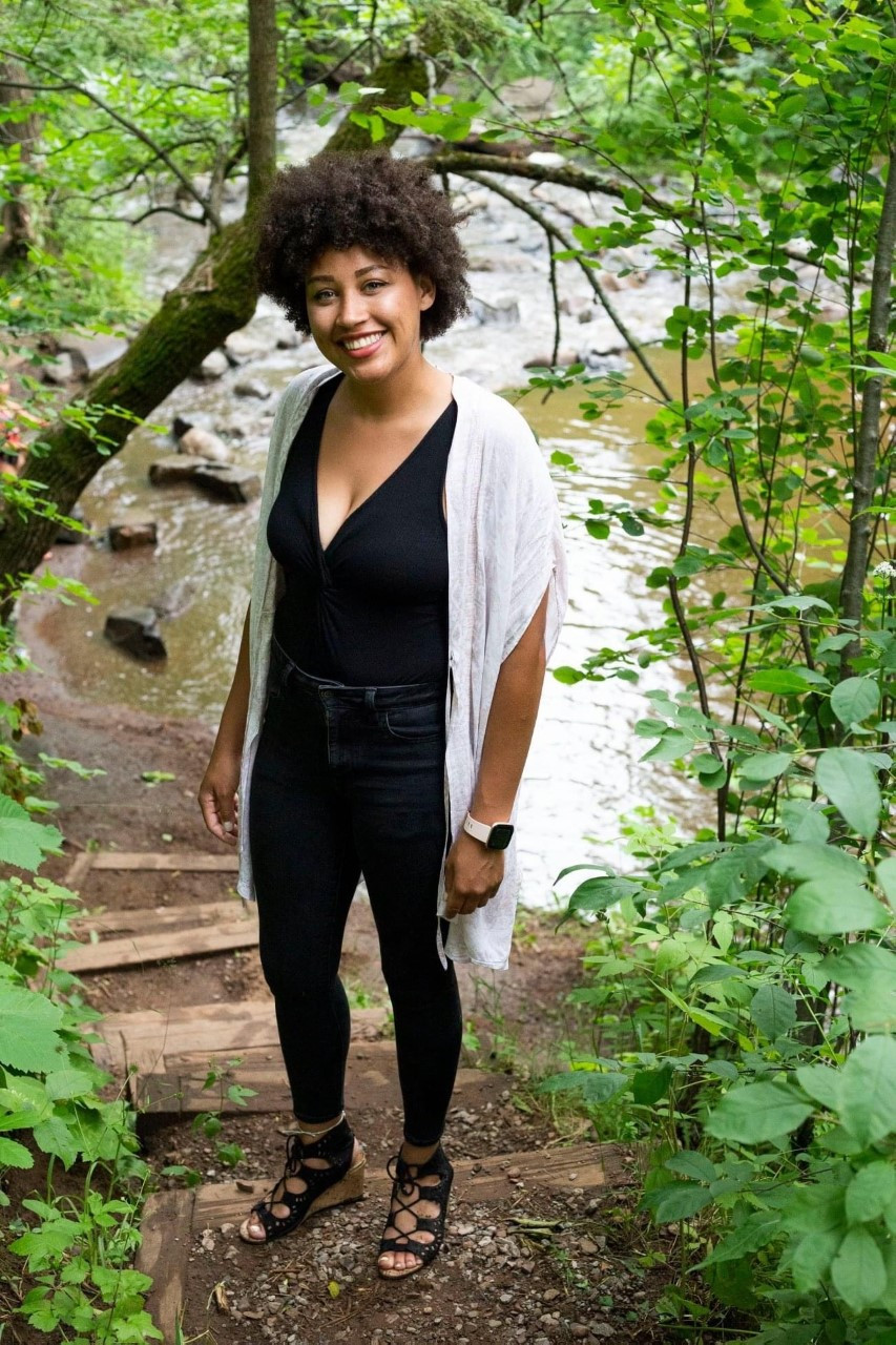 Saraiya on a hiking trail