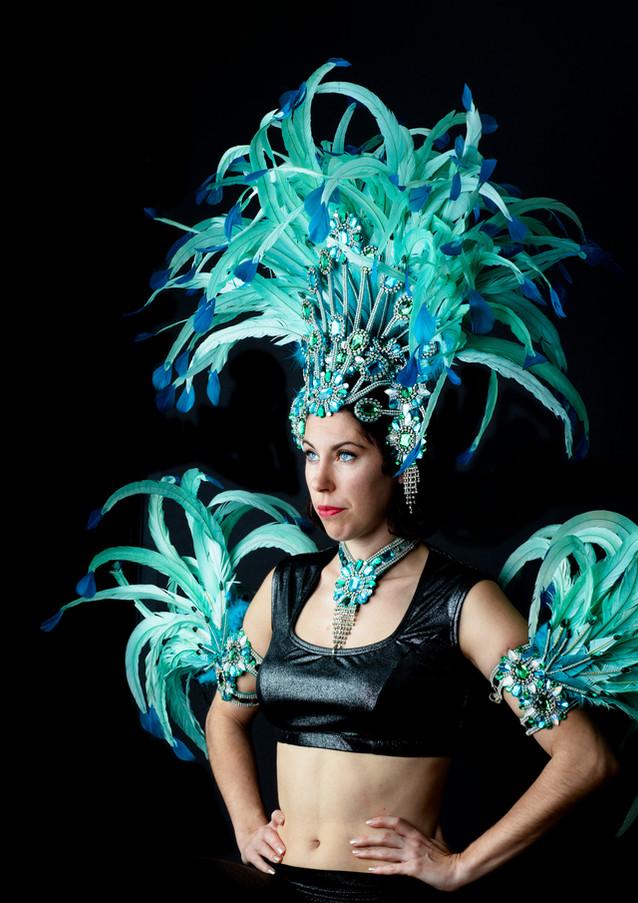 Top by D. Webb Designs Headress by Brazil Carnival Shop