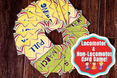 Locomotion and Non-Locomotion Card Games for Dance or Choreography