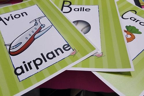 Les affiches bilingue de Watermelonworks Bilingual wall posters