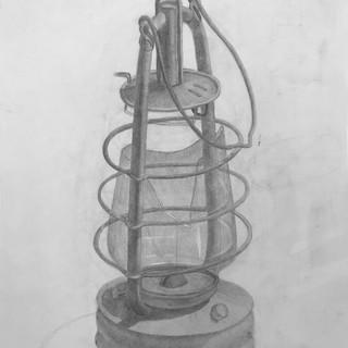 Рисунок керосинового фонаря
