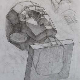 Рисунок обрубовки головы
