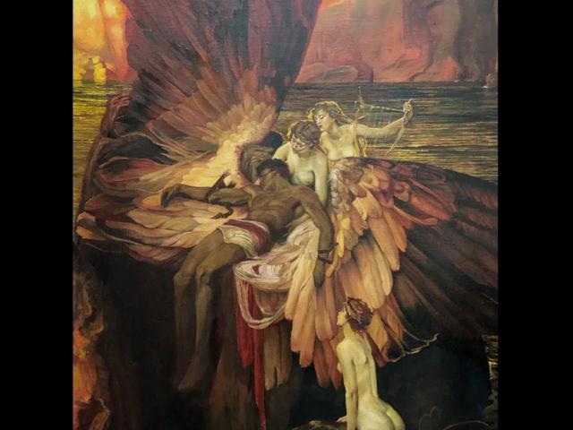 Живописный процесс. Как создавалась копия картины  Герберта Джеймса Дрэйпера.