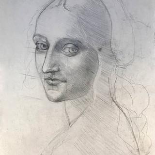 Копия эскиза Мадонны Леонардо да Винчи
