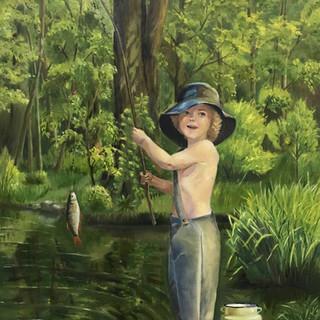 Юный рыбак