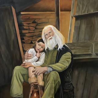 Портрета деда с дочкой