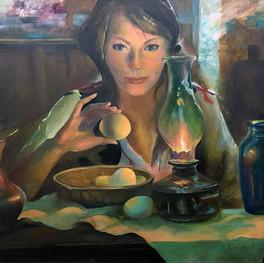 Копия женского портрета кисти Даниэля Герхартца