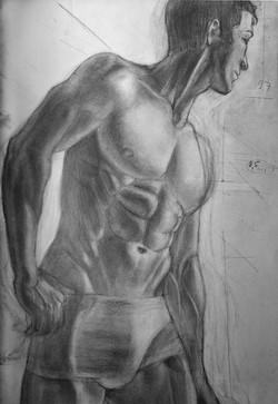 Рисунок мужского торса по фотографии