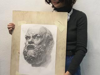 Гипсовую голова Сократа (современный вариант отливки)
