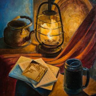 Натюрморт с керосиновым фонарем