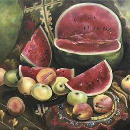 Натюрморт с арбузом. Копия