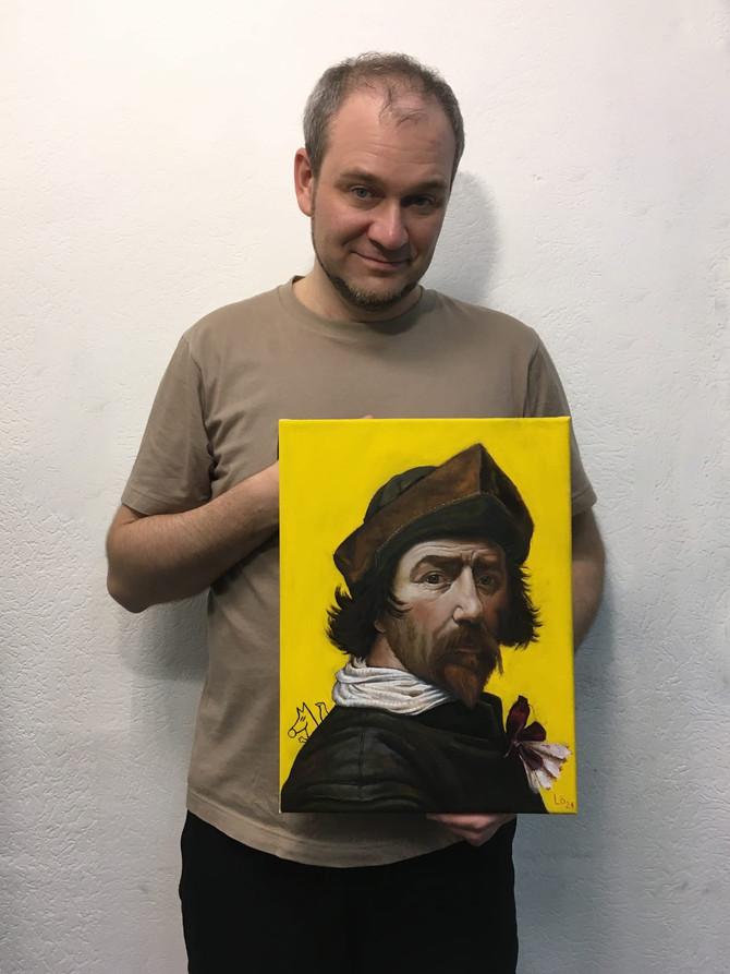 Копия автопортрета кисти Хью Питерса Воскуйоля. Новый взгляд.