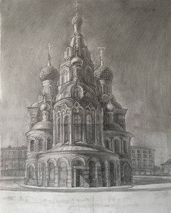 Рисунок собора Спаса на Крови