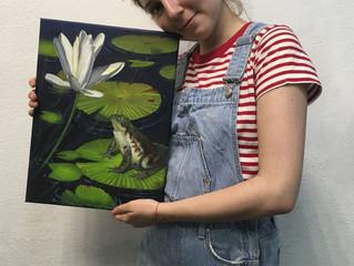 Первая живописная картина Карины.