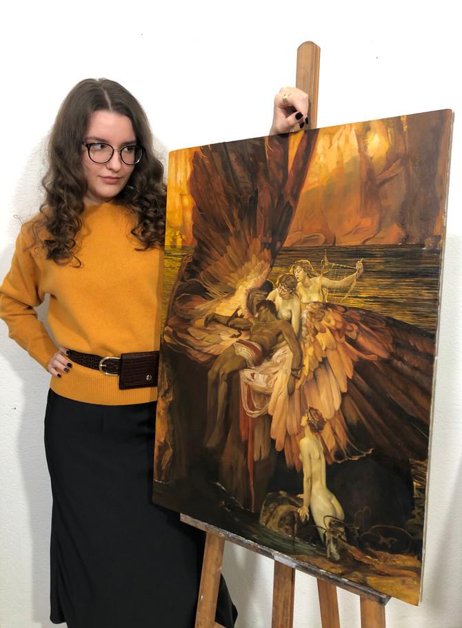 Копия картины «Оплакивание Икара» кисти Герберта Джеймса Дрэйпера.