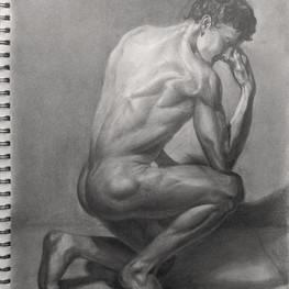 Рисунок мужской фигуры со спины
