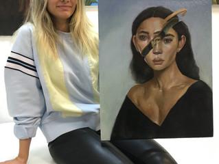 Эмма её первый портрет маслом.