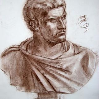 Бымтрый рисунок бюста Каракалло