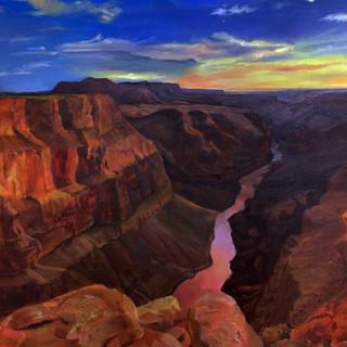 Большой каньон в США. Живопись по фотографии