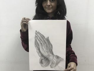 Рисуем кисти рук. Анализ, копирование, рисунок с гипсовой натуры.