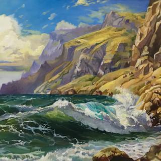 Копия морского пейзажа кисти Сергея Григораша