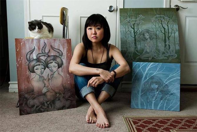 СОЧЕТАНИЕ ВОСТОКА и ЗАПАДА в манящих работах современной художницы.