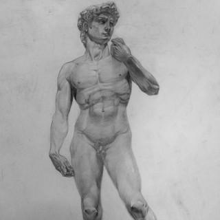 Рисунок статуи Давида Микеланджело