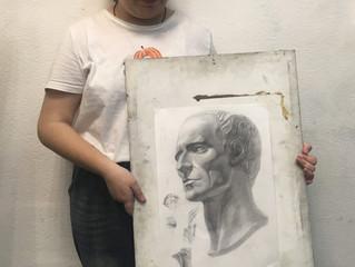 Рисунок  головы Цезаря.