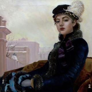 "Копия картины ""Неизвестная"" И.Н. Крамского"