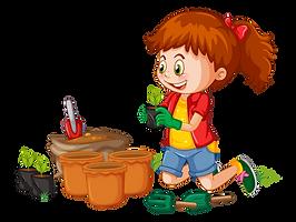 Gardening-girl-on-transparent-background