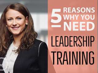 5 Reasons Why You Need Leadership Training