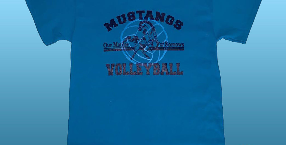 OMOS * ACE SERVE! BUMP! SET! SPIKE! GO Mustangs!  Volleyball T-Shirt