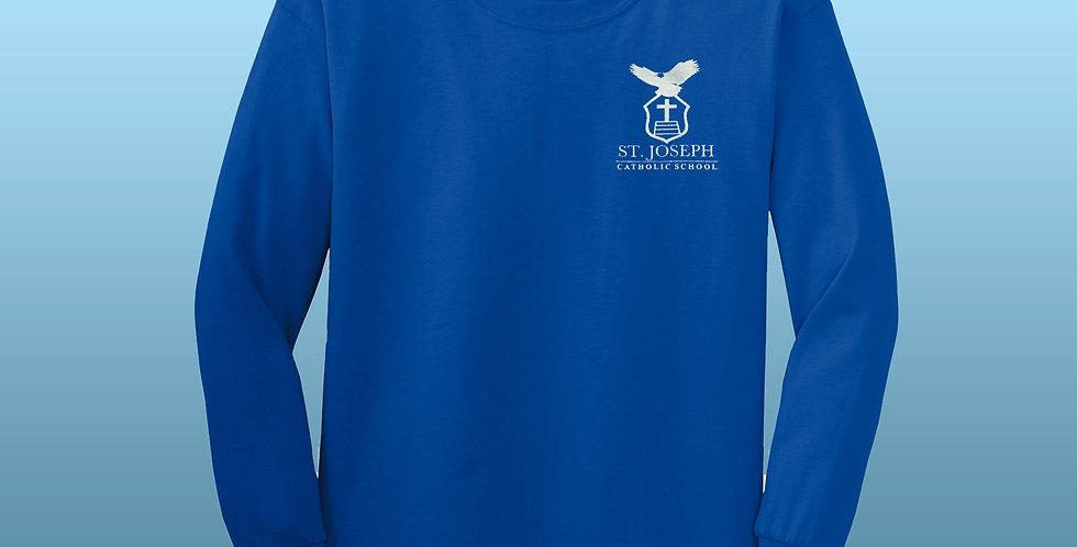 St. Joseph 100% Ultra Cotton Quality Long Sleeve T-Shirt | Pre-K Royal Blue!
