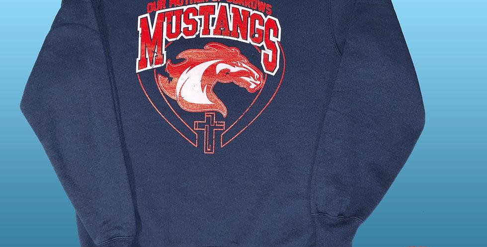 OMOS COOL! Mustang Spirit NuBlend Crewneck Sweatshirt!